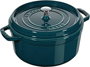 Staub 铸铁炖锅/烤盘,圆形带盖子 La Mer 26 cm 1102637