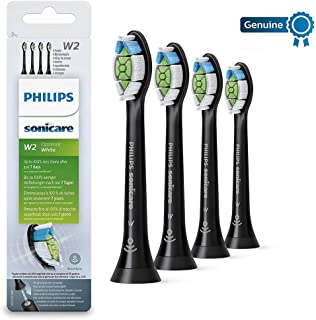 Philips 飞利浦 原装Sonicare Optimal白色替换牙刷头,四支装,黑色-HX6064 / 13