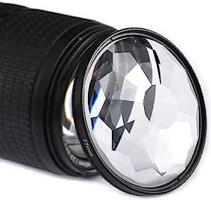 万花筒玻璃棱镜,77 毫米万花筒棱镜相机玻璃滤镜可变主题数量单反摄影配件