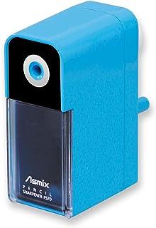 Aska(Asmix) 铅笔削笔器 附笔头调整功能 PS70 蓝色