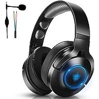 PS4 PS5 PC Xbox One 有线游戏耳机,7.1 立体声游戏耳机,头戴式耳机带降噪麦克风,无线耳机仅适用于音…