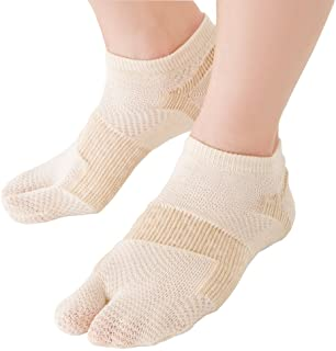 轻薄且结实的拇趾外翻设计袜子(1双装)