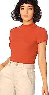 Shein 女式企领短袖修身针织 T 恤