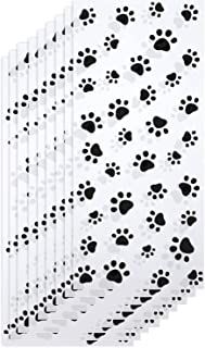 EkeBaking 狗狗零食袋 爪印锥体玻璃纸袋 热密封*糖果袋 狗狗礼品袋 带 100 件扭结扎 适用于派对用品