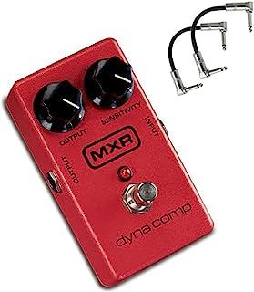 MXR M102 Dyna Comp 紧凑型吉他压缩踏板,带输出和灵敏度旋钮捆绑,带 2 根补丁电缆