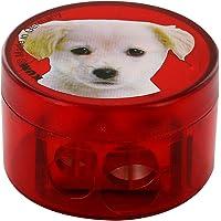 KUM 208M2 镁双容器磨刀器 动物设计 狗红色