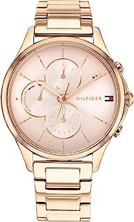 Tommy Hilfiger 汤米·希尔费格 女式模拟石英手表不锈钢表带 1782259