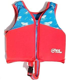 SAND DOLLAR 游泳训练背心,弹性型,可调节*带,穿脱方便,承重达33磅(约15公斤),鲨鱼蓝/红色