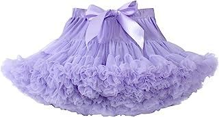 女婴蓬蓬裙公主蓬松柔软薄纱芭蕾生日派对蓬裙(9M-8T)