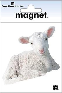 Paper House Productions M-0461E 模切冰箱磁贴,羔羊(6 件装)