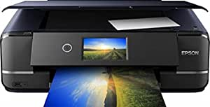 EPSON 爱普生 Expression Photo XP-970 三合一多功能喷墨打印机(扫描仪,复印机,WiFi,以太网,双面,10.9厘米触摸屏,单墨盒,6色,A3),黑色
