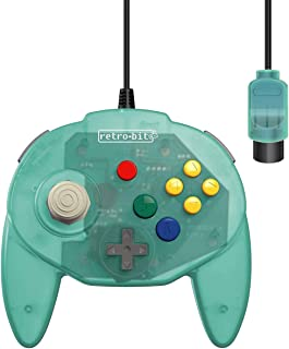 Retro-Bit Tribute 64 有线 N64 控制器 Nintendo 64 - 原装端口 - (海盐冰淇淋)