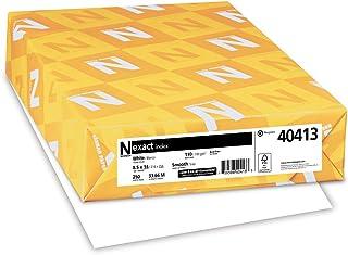Exact Index 卡片纸,21.59 厘米 x 35.56 厘米,49.92 千克/199 GSM,白色,94 张亮度,250 张 (40413)