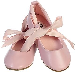 Ballerina 丝带领带橡胶鞋 Cinderella 平底幼童聚会