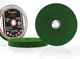 切割轮 10/25/50/100 件,Tinpec 4 英寸切割盘高级锋利型*力切割角磨轮,带双玻璃纤维网,用于不锈钢金属木材塑料 (10)
