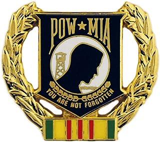美国* POW/MIA 战争失灵在行动中越南退伍军人花环丝带和地图 2.54 厘米翻领别针
