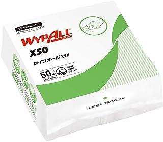 クレシア ワイプオールX50 クロスライク 4つ折り 50枚 不織布ワイパー 超薄手 60555