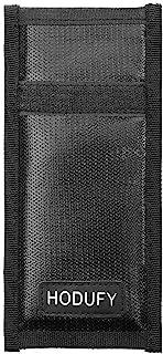 Faraday 钥匙扣袋,RFID 钥匙扣保护汽车信号屏蔽,防火Faraday 袋,防盗袋(黑色)