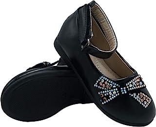 幼儿/小童女孩芭蕾平底踝带鞋派对礼服鞋