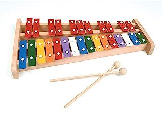 专业木制高音全尺寸彩色钟琴木琴,带 27 个金属钥匙,适合成人和儿童KJ-Xylo27-Colour