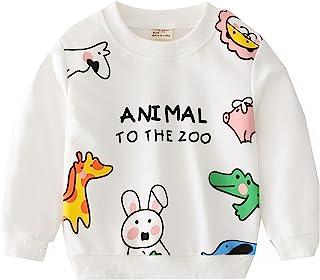 小男孩女孩卡通运动衫长袖圆领衬衫儿童棉质套头衫中性款