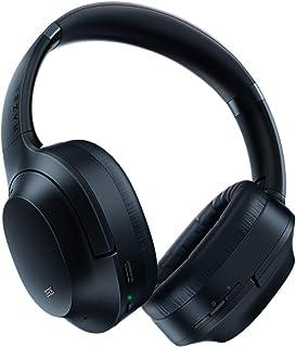 Razer 雷蛇 Opus 主动降噪ANC无线耳机:THX音频调谐 - 25小时电池 - 蓝牙和3.5毫米插孔兼容 - 自动播放/自动暂停 - 包括便携包 - 午夜蓝