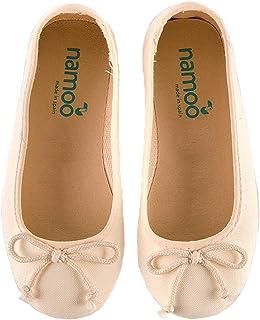 Namoo Ballerina 适合女孩,棉和橡胶鞋底,婴儿/幼儿/儿童鞋,柔软防护