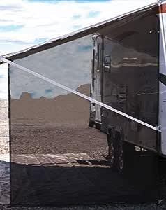 Tentproinc RV 遮阳篷侧遮阳 9'X7' - 黑色网眼遮阳罩完整套件露营拖车遮篷防紫外线遮阳板 - 3 年耐用