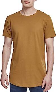 都市经典男式形状长 T 恤 t 恤,小号