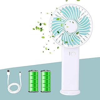 Orapink 迷你手持风扇,USB 风扇可充电2400mAh,台式风扇3档速度,便携式风扇适用于家庭旅游办公室运动户外学校
