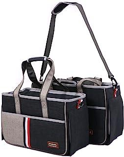 ELEGX 宠物手提包单肩包便携式旅行包,适合小型/中型犬和猫,通风良好,航空公司认证
