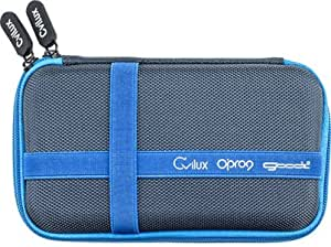 Opro9 旅行电缆收纳袋电子配件盒适用于 USB、手机、充电器和硬盘 蓝色