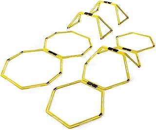 Yes4All 六角形速度和敏捷环,带便携包(6 个环和 12 个环)