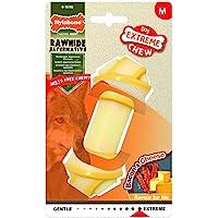 Nylabone 984721EU 狗骨头 生食品 奶酪和培根口味 咀嚼骨头 适合高咀嚼的狗 适合 16 公斤以下的狗狗…