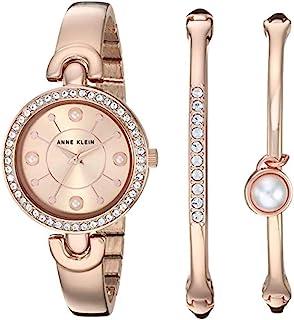 Anne Klein 女士施华洛世奇水晶重音手表手镯套装,AK/3288