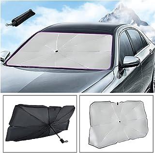 汽车挡风玻璃遮阳伞可折叠,可阻挡阳光紫外线,保持车内凉爽 (4531)