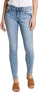 Silver Jeans Co. 女式 Avery 曲线修身高腰紧身牛仔裤