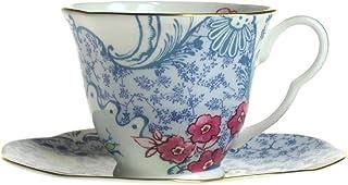 Wedgwood Harley Quinn Butterfly Bloom 茶杯与茶托 蓝色与粉色