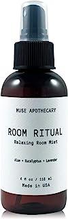 Muse 浴室*仪式 - 香薰和放松房间喷雾,4 盎司(约 113.4 克),注入天然精油 - 芦荟+桉树+薰衣草