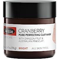 Swisse 天然蔓越莓清洁面膜,澳大利亚粉红色高岭土粘土   适合所有皮肤类型   可以去除角质,细化和收紧毛孔…