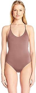 Dolce Vita 女式纯色一件式后背交叉泳衣
