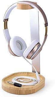 Avantree 通用木质和铝制耳机支架带电缆支架,坚固的桌面耳机支架适用于索尼,博世,舒尔,Jabra,JBL,AKG,游戏耳机显示屏 - TR902
