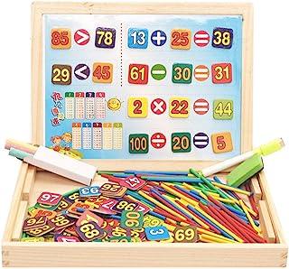 TEANQIkejitop 字母和数字拼图磁铁学前家庭学校用品学习游戏礼物幼儿早期教育教育木制玩具
