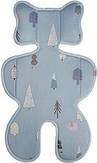 Bebamour 3D 网眼婴儿车衬垫婴儿/婴儿   靠垫  垫  凉爽座椅插入适用于 38 70 厘米婴儿靠垫垫(树)