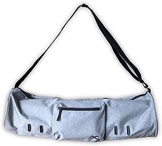 YogaAddict 大号瑜伽垫袋紧凑带口袋和拉链,71.12 厘米 x 20.32 厘米和 73.66 厘米 x 27.94 厘米长,适合大多数的垫子,超宽,可调节肩带,方便取用