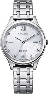 Citizen 西铁城 女式模拟光动能手表不锈钢表带 EM0500-73A
