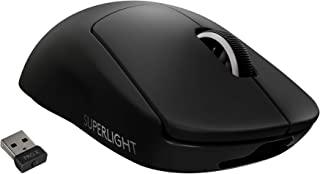 Logitech 罗技 G PRO X 超轻无线游戏鼠标 – 高速、轻质游戏鼠标 兼容 PC 和 Mac(USB 端口) – 黑色
