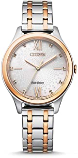 CITIZEN 女士模拟光动能手表不锈钢表链EM0506-77A