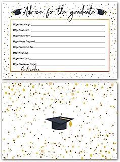 30 张 2021 毕业派对建议卡片,毕业派对用品的建议,礼品公告桌游毕业愿望卡(金黑色)