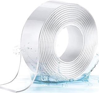 Vineco 2020 纳米魔术可重复使用胶带 双面坚固 5 米长 5 毫米厚 3 厘米宽,适用于玻璃、塑料、木材、金属、纸